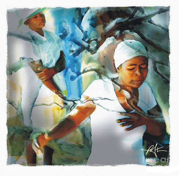 Haiti Poster featuring the painting The Prayer Tree Haiti by Bob Salo