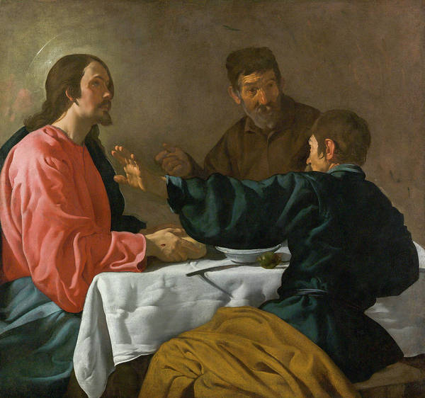 Baroque Poster featuring the painting The Supper At Emmaus by Diego Velazquez