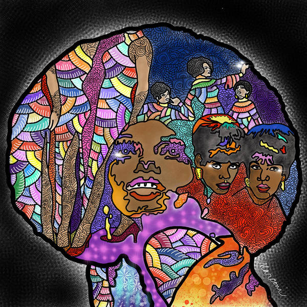 The Supremes Poster featuring the digital art The Supreme Beings by Marconi Calindas