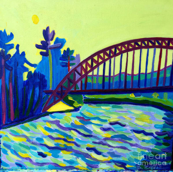 Water Poster featuring the painting The Tyngsborough Bridge by Debra Bretton Robinson