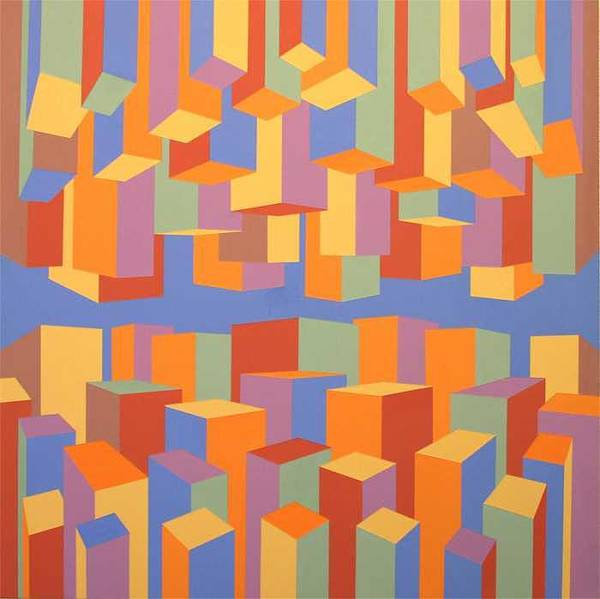 Abstract Poster featuring the painting The Upside of Down by Marston A Jaquis