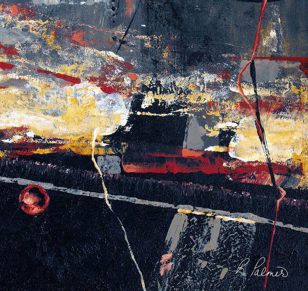 Abstract Poster featuring the painting The View by Ruth Palmer