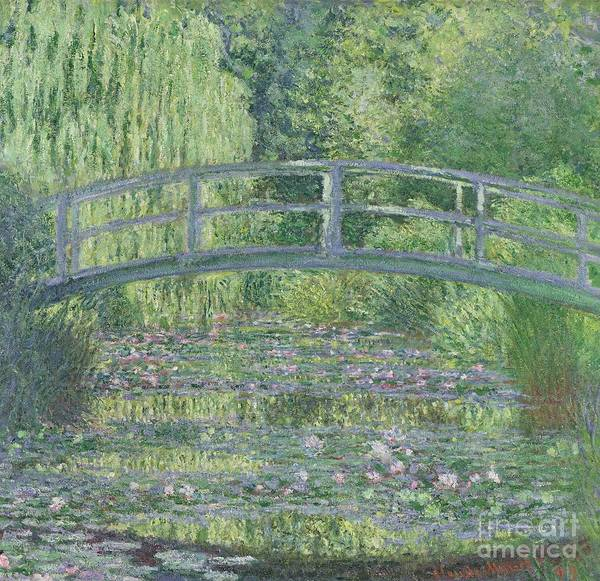 The Poster featuring the painting The Waterlily Pond by Claude Monet