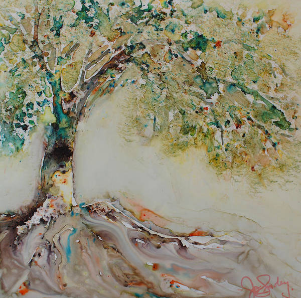 Landscape Poster featuring the painting The Wisdom Tree by Joanne Smoley