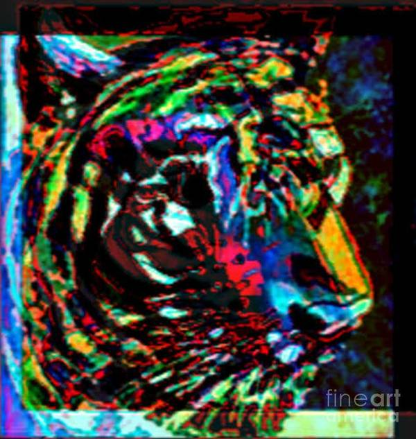 Wildlife Poster featuring the digital art Tiger Se by Brenda L Spencer