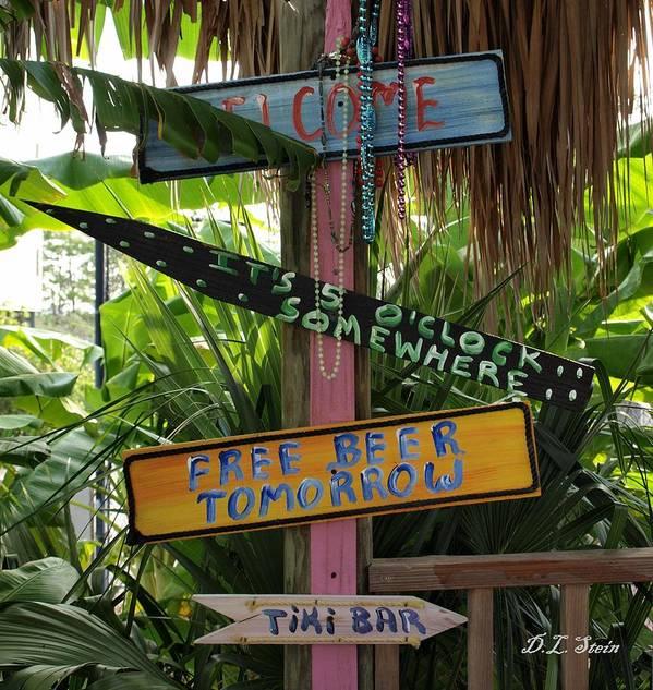 Tiki Bar Poster featuring the photograph Tiki Bar Sign by Dennis Stein