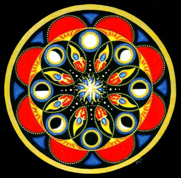 Meditative Mandala Poster featuring the painting Universal Light Mandala by Pam Ellis