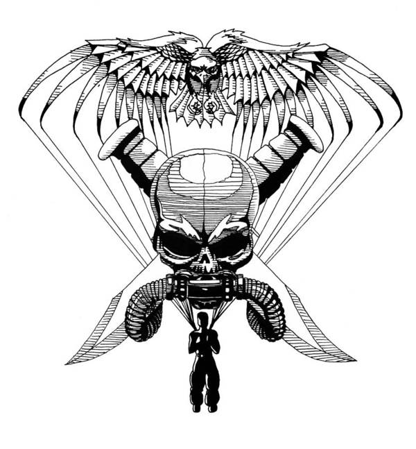 Bald Eagle Poster featuring the drawing US Marine Corp Recon by Scarlett Royal