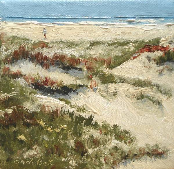 Water Poster featuring the painting Ventura Dunes II by Barbara Andolsek