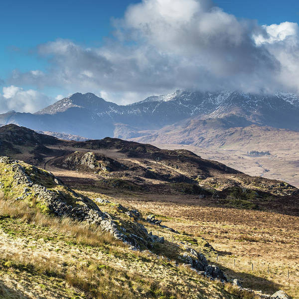 Moel Siabod Poster featuring the photograph View from Moel Siabod, Snowdonia, North Wales by Anthony Lawlor