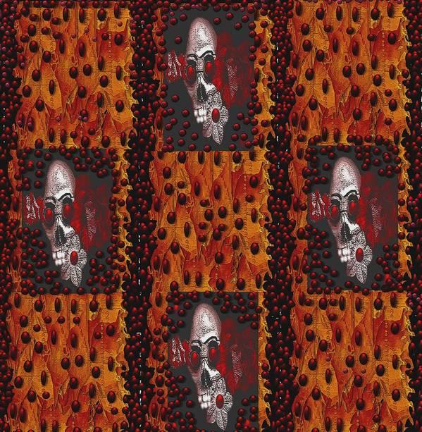 Skulls Poster featuring the mixed media Viva La Revolution by Pepita Selles
