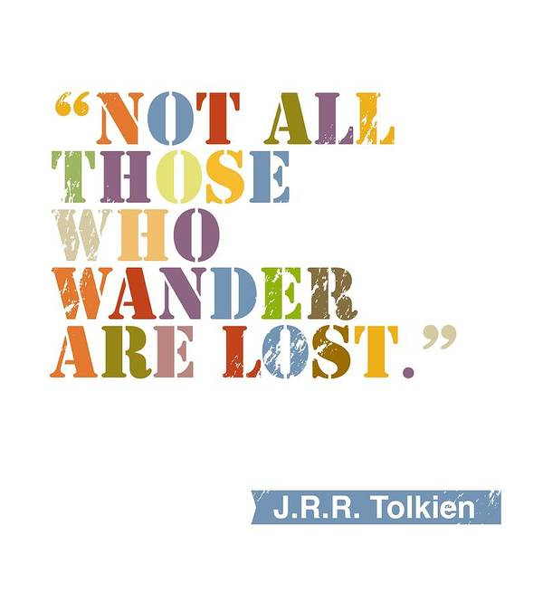J.r.r. Tolkien Poster featuring the painting Wanderlust by Cindy Greenbean