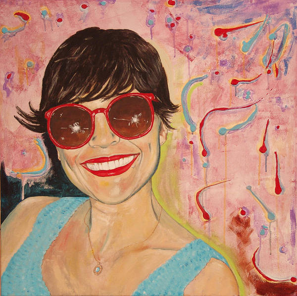 Portrait Poster featuring the painting When Irene Smiles by Kevin Callahan