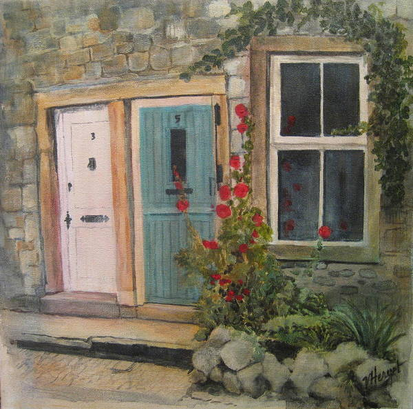 Yorkshire Poster featuring the painting Yorkshire Cottages by Victoria Heryet