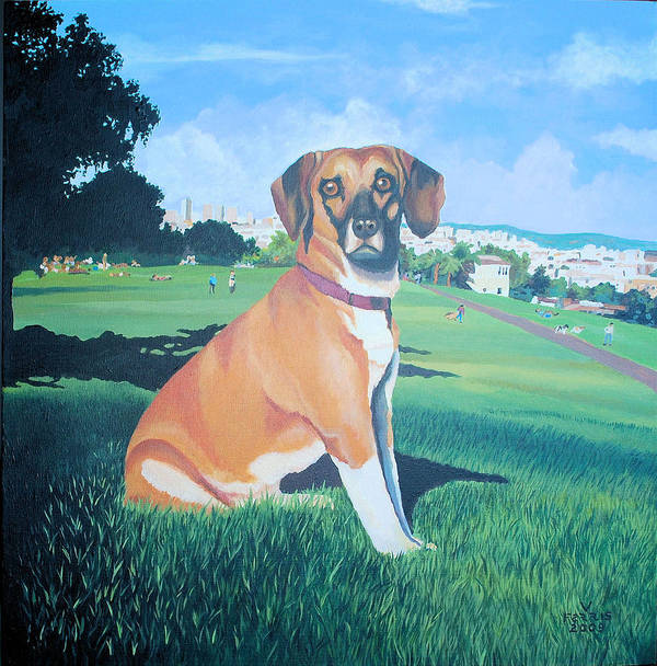 Acrylic On Canvas Poster featuring the painting Zachary by Vernon Farris