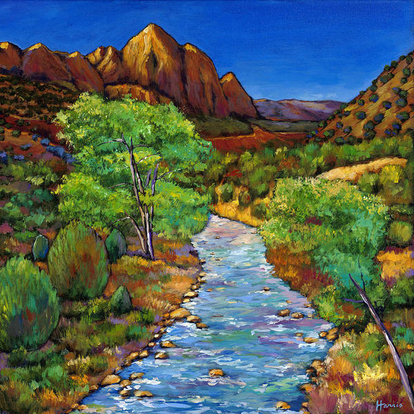 National Parks Poster featuring the painting Zion by Johnathan Harris