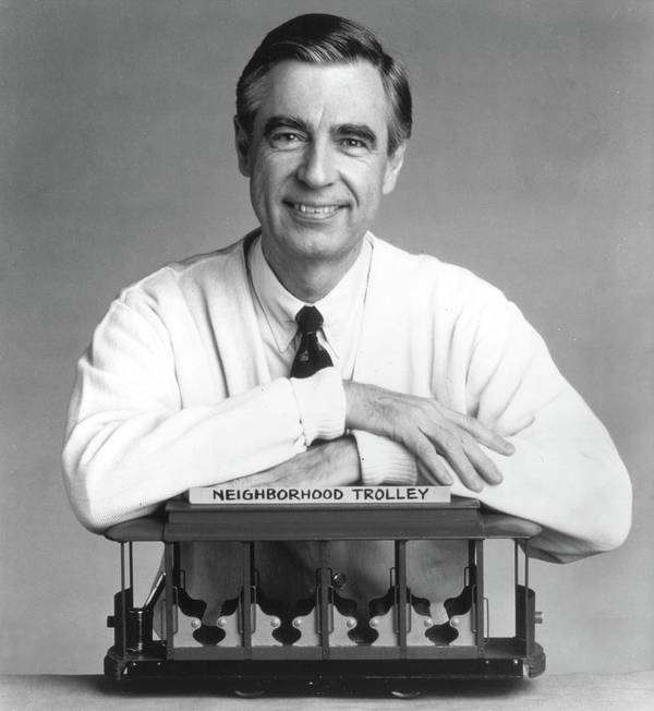 Fred Rogers The Host Of The Childrens Poster By Getty Images