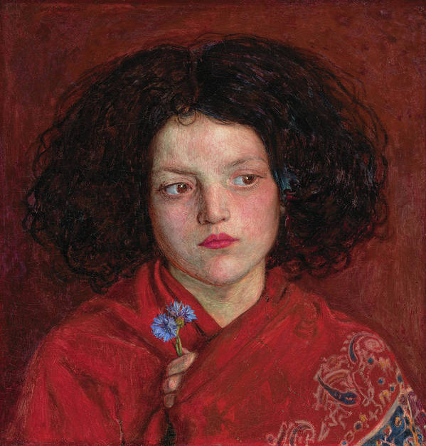 British Poster featuring the painting The Irish Girl by Ford Madox Brown
