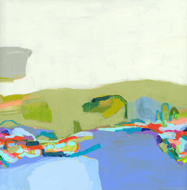 Abstract Poster featuring the painting Another Place by Claire Desjardins