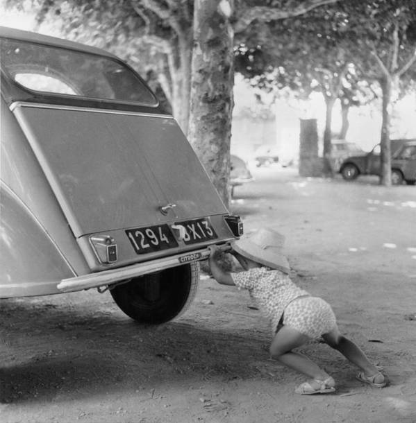 Child Poster featuring the photograph Car Break-down 1964 by Keystone-france