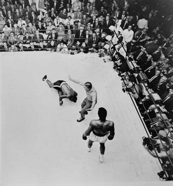 Heavyweight Poster featuring the photograph Clay V Patterson by Hulton Archive
