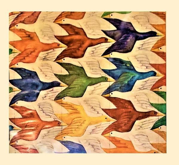 Maurits Cornelis Escher Poster featuring the photograph Escher 182 by Rob Hans