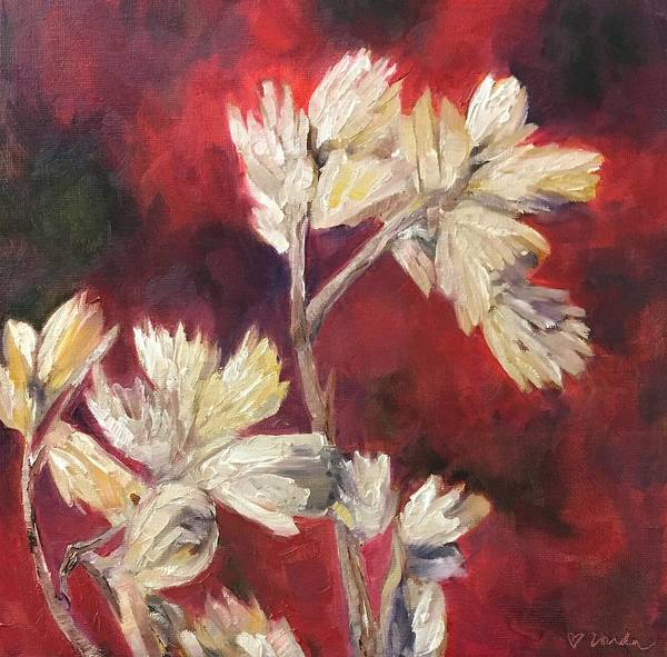 Fall Flowers Poster featuring the painting Fall Flowers by Vonda Drees