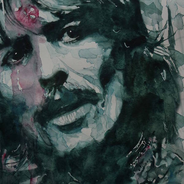 The Beatles Poster featuring the painting George Harrison - All Things Must Pass by Paul Lovering