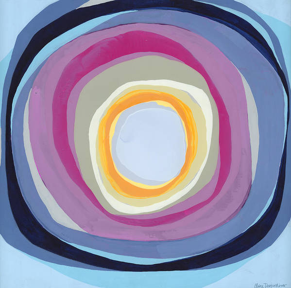 Abstract Poster featuring the painting Hang Cool by Claire Desjardins