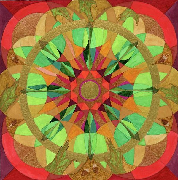 Mandala Poster featuring the painting Hope by Sandy Thurlow