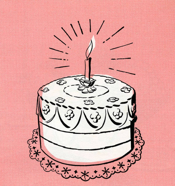 Terrific Illustration Of Birthday Cake Poster By Graphicaartis Funny Birthday Cards Online Fluifree Goldxyz