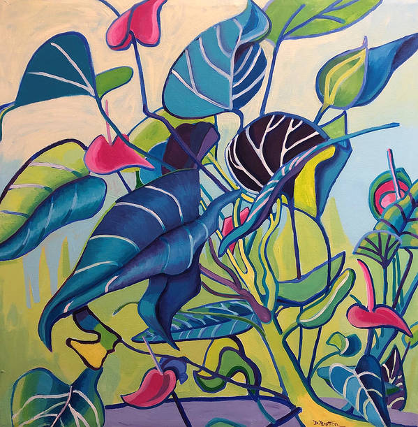 Jungle Poster featuring the painting Jens Jungle by Debra Bretton Robinson