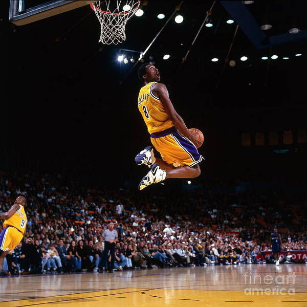 Nba Pro Basketball Poster featuring the photograph Kobe Bryant Action Portrait by Andrew D. Bernstein