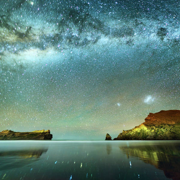 Galaxy Poster featuring the photograph Long Exposure Of Stars by Piskunov