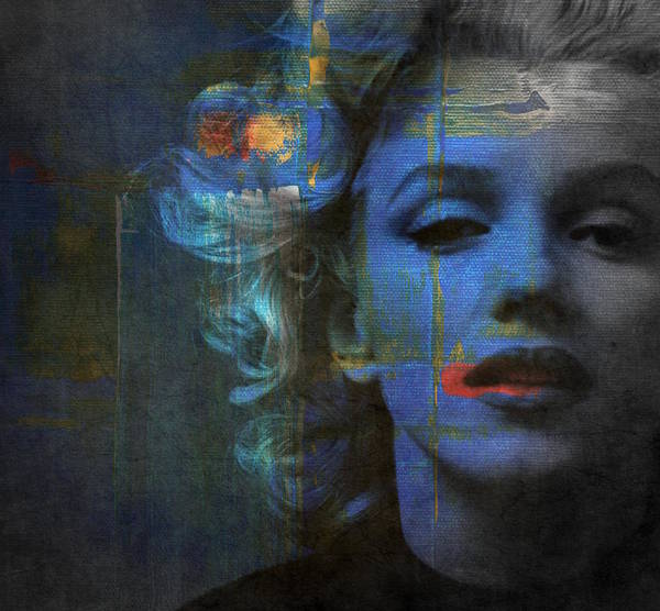 Monroe Poster featuring the mixed media Marilyn Monroe - Retro by Paul Lovering