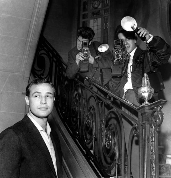 1950-1959 Poster featuring the photograph Marlon Brando In Paris 1957 by Keystone-france