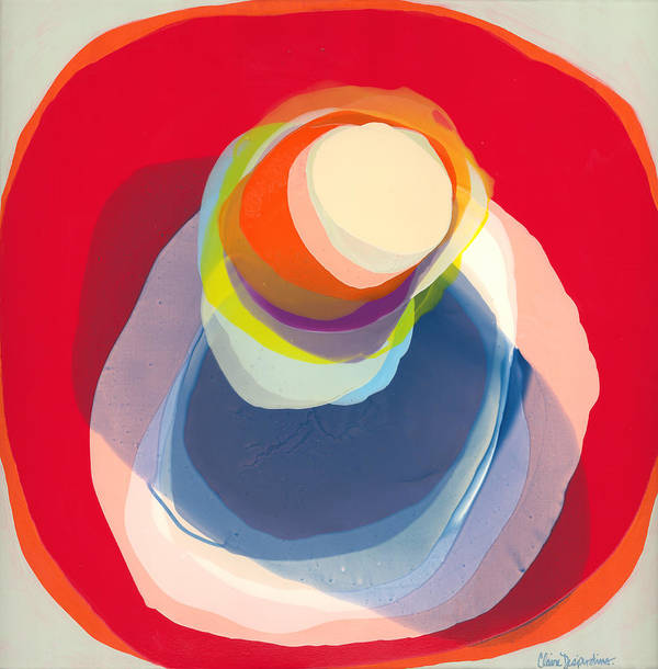 Abstract Poster featuring the painting Reflective by Claire Desjardins