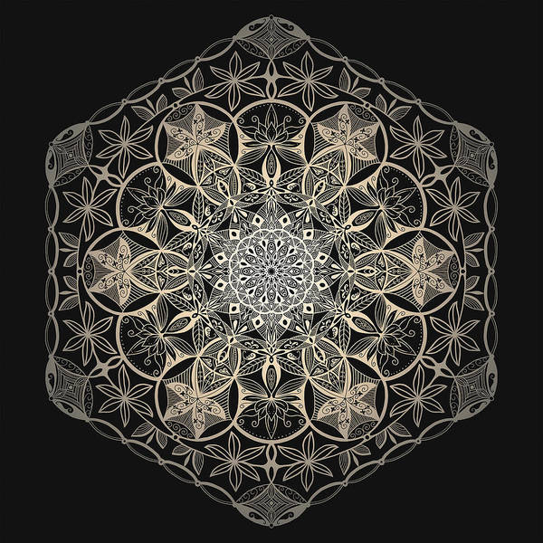 Sacred Geometry Mandala Poster featuring the mixed media Sacred Geometry Mandala by Delyth Angharad