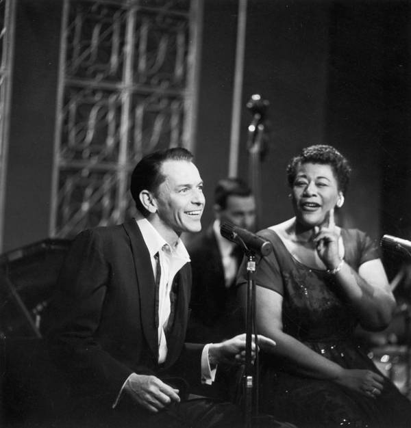 Singer Poster featuring the photograph Sinatra & Fitzgerald by Hulton Archive