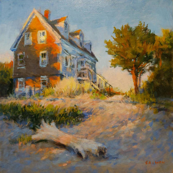 Cape Cod Poster featuring the painting The Old Silva Place No. 1 by Peter Salwen