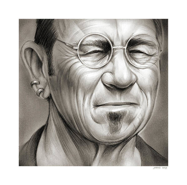 Sketch Poster featuring the drawing Tommy Lee Jones by Greg Joens