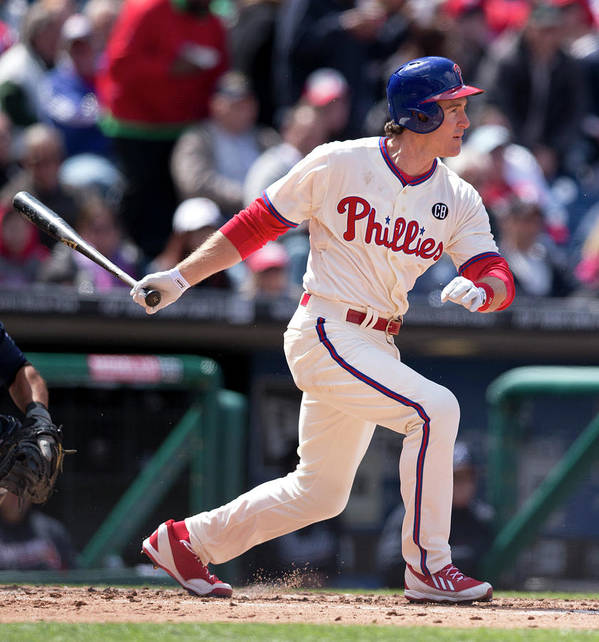 Citizens Bank Park Poster featuring the photograph Chase Utley by Mitchell Leff