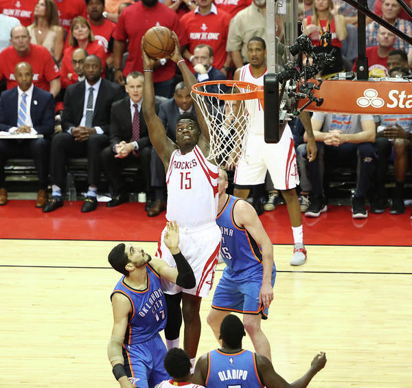 Playoffs Poster featuring the photograph Clint Capela by Nathaniel S. Butler