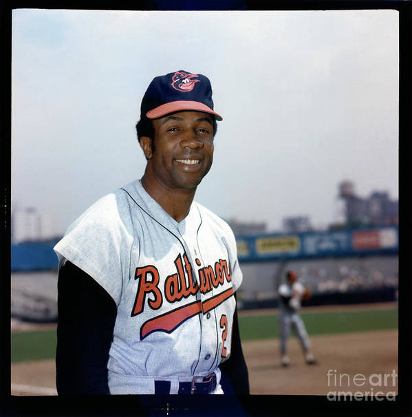 National League Baseball Poster featuring the photograph Frank Robinson by Louis Requena