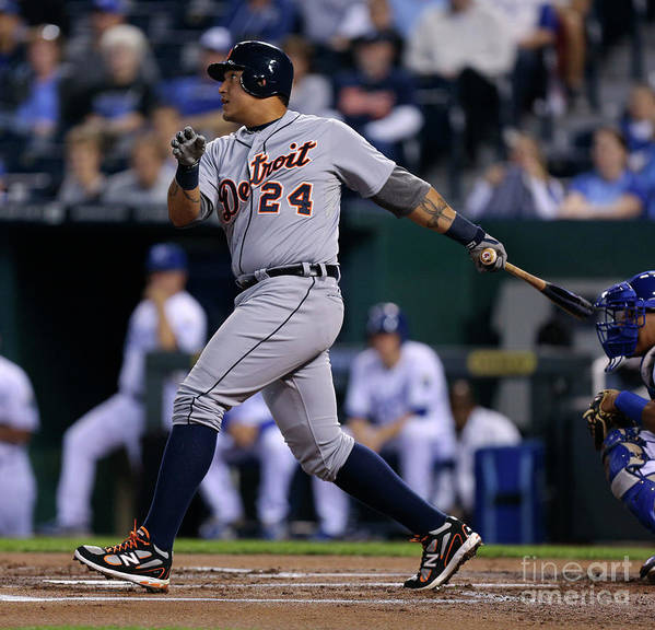 American League Baseball Poster featuring the photograph Miguel Cabrera by Ed Zurga