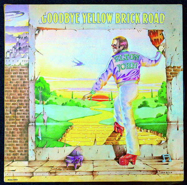 Goodbye Yellow Brick Road Poster featuring the photograph 1973 Goodbye Yellow Brick Road album cover by David Lee Thompson