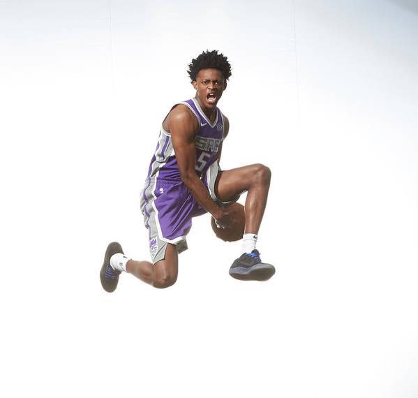 Nba Pro Basketball Poster featuring the photograph De'aaron Fox by Nathaniel S. Butler