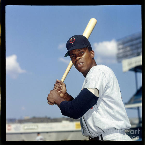 American League Baseball Poster featuring the photograph Rod Carew by Louis Requena