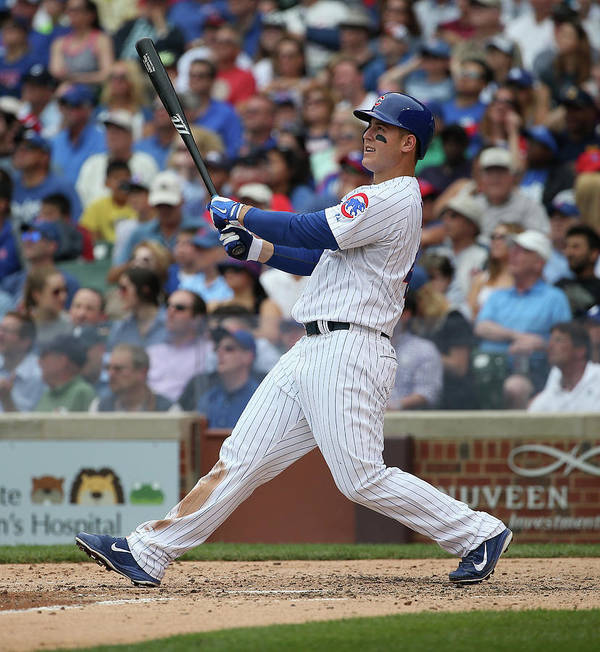 Following Poster featuring the photograph Anthony Rizzo by Jonathan Daniel