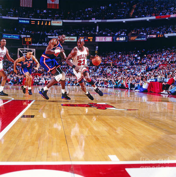 Nba Pro Basketball Poster featuring the photograph Michael Jordan by Nathaniel S. Butler